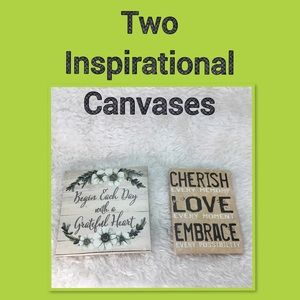 TWO INSPIRATIONAL CANVAS WALL DECOR